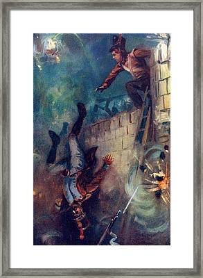 Hurled Him Into The Dreadful Ditch Framed Print by Vintage Design Pics