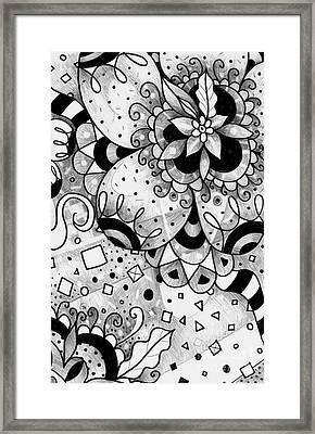 Hurlyburly Reversed Framed Print by Helena Tiainen