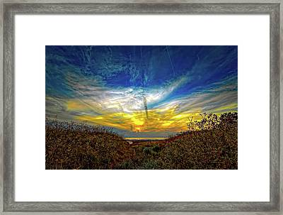 Huron Evening 2 Framed Print by Steve Harrington