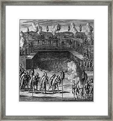 Huron Feast Of The Dead Framed Print