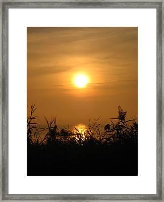 Huron Sunrise Framed Print