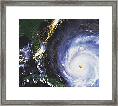 Hurricane Floyd Framed Print by NASA / Science Source