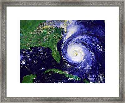 Hurricane Fran Framed Print