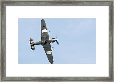 Framed Print featuring the photograph Hurricane From Below Sunderland Air Show 2014 by Scott Lyons