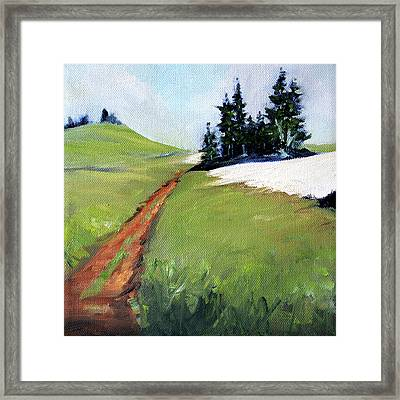 Framed Print featuring the painting Hurricane Hill by Nancy Merkle