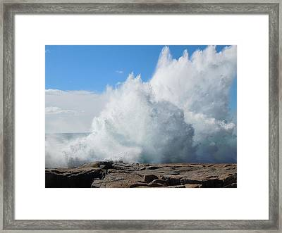 Hurricane Igor At Schoodic Point Maine Framed Print