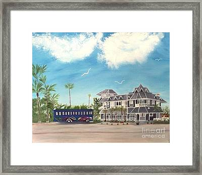 Hurricane Restaurant Pass A Grill Florida Framed Print by Peggy Holcroft
