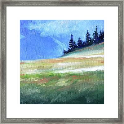 Framed Print featuring the painting Hurricane Ridge by Nancy Merkle