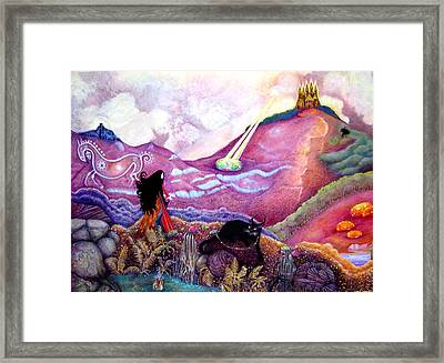 Hurry Because The Light Is Fading Framed Print by Jane Tripp