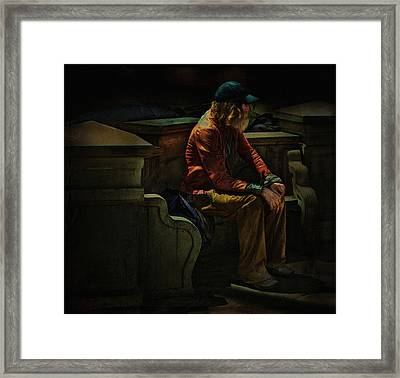 Hurting Inside No One To Talk To .... Framed Print