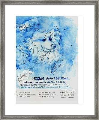 Huskies Team And Mascot-armory 2005 Framed Print by Elle Smith Fagan