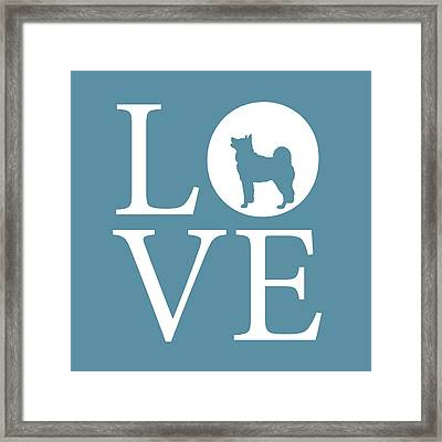 Husky Love Framed Print by Nancy Ingersoll