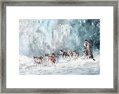 Huslies Race In Germany Framed Print