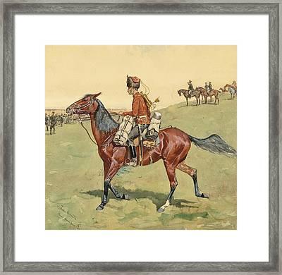 Hussar  Russian Guard Corpse Framed Print