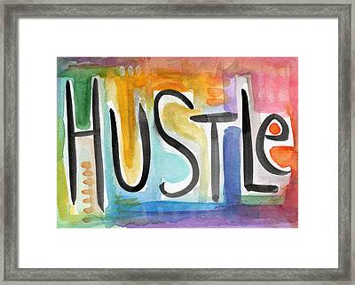 Hustle- Art By Linda Woods Framed Print