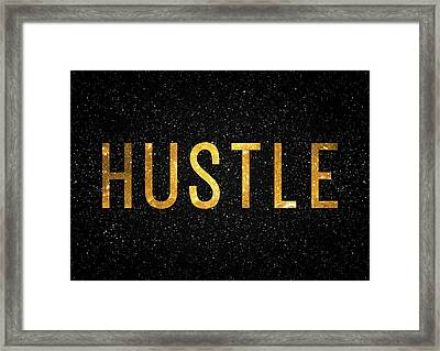 Hustle Framed Print by Taylan Apukovska