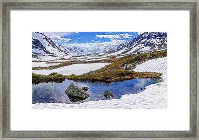Framed Print featuring the photograph Hut In The Mountains by Dmytro Korol