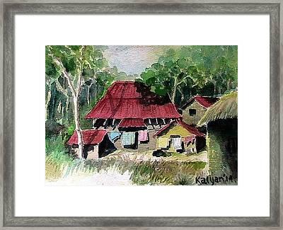 Hut Framed Print by Kalyan Bandyopadhyay