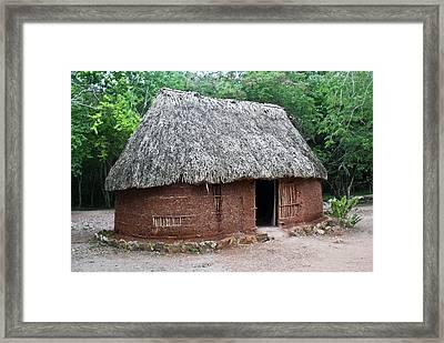 Hut Yucatan Mexico Framed Print by Douglas Barnett