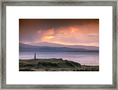 Hutcheson's Monument On The Isle Of Kerrera At Sunset Framed Print