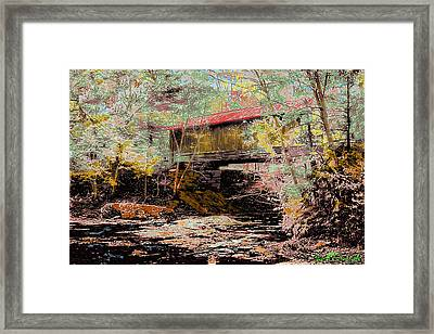 Hutchins' Bridge Framed Print