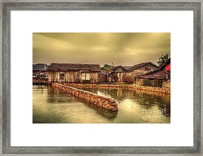 Framed Print featuring the photograph Huts 2 by Charuhas Images