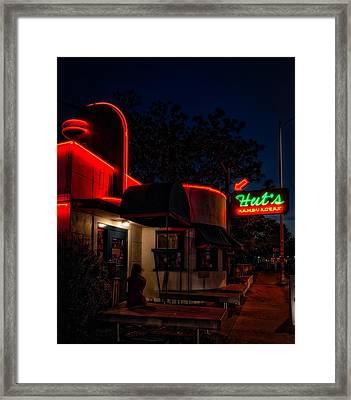 Hut's Hamburgers Of Austin Framed Print
