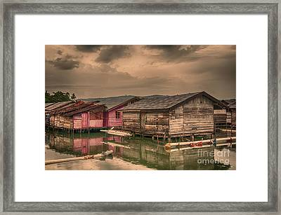Framed Print featuring the photograph Huts In South Sulawesi by Charuhas Images