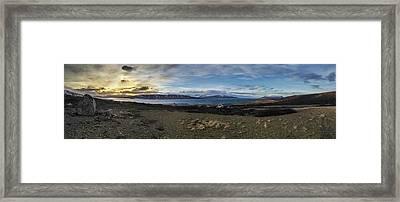 Hvalfjorour Panorama Framed Print