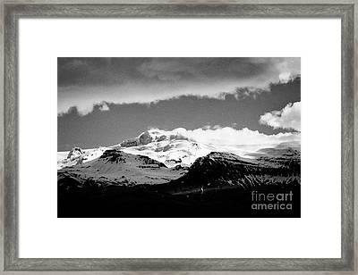 Hvannadalshnukur Highest Peak Of Oraefajokull Ice Covered Volcano Part Of Vatnajokull Glacier Framed Print