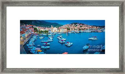 Hvar Panorama Framed Print by Inge Johnsson