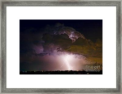 Hwy 52 - 08-15-2010 Lightning Storm Image 42 Framed Print by James BO  Insogna
