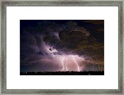 Hwy 52 - Hwy 287 Lightning Storm Image 29 Framed Print by James BO  Insogna