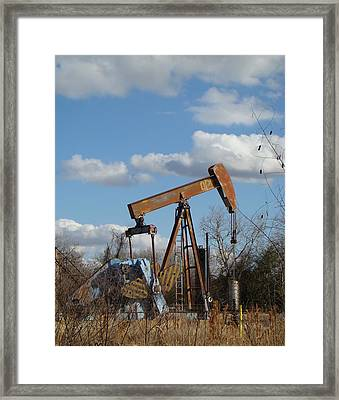 Hwy 71 Oil Well Framed Print by Ana Villaronga