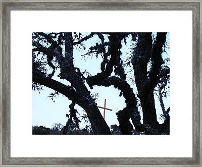 Hwy 87 Cross Two Framed Print by Ana Villaronga