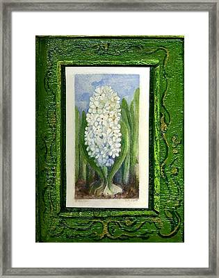 Hyacinth Framed Print by Elle Smith Fagan