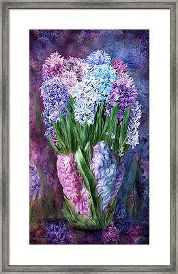 Hyacinth In Hyacinth Vase 1 Framed Print