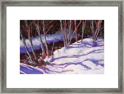 Hyak Stream Framed Print by Mary McInnis