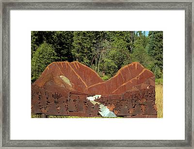 Hyalite Canyon Sculpture Framed Print
