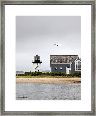 Hyannis Harbor Lighthouse Cape Cod Massachusetts Framed Print