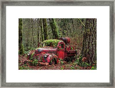 Hybrid Fire Truck Framed Print