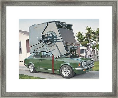 Framed Print featuring the painting Hybrid Vehicle by Scott Listfield
