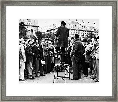 Framed Print featuring the photograph Hyde Park, 1957 by Granger