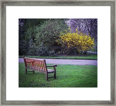 Hyde Park Bench - London Framed Print