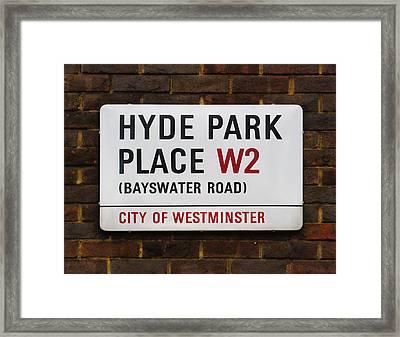 Hyde Park Place Framed Print by Osvaldo Hamer