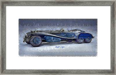 Hydra Schmidt Coupe  - Pencil Style -  - Da Framed Print