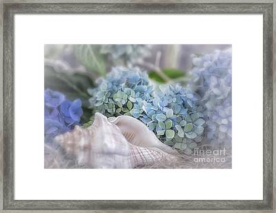 Hydrangeas By The Sea Framed Print