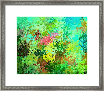 Abstract Water Flowers Framed Print by ARTography by Pamela Smale Williams