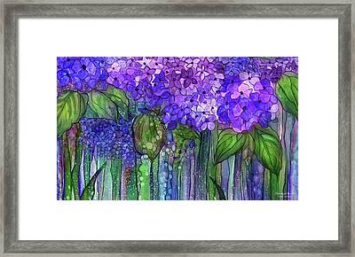 Hydrangea Bloomies 3 - Purple Framed Print