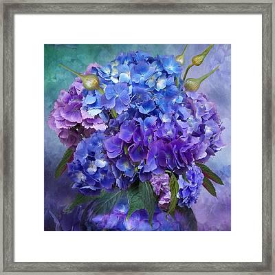 Hydrangea Bouquet - Square Framed Print by Carol Cavalaris